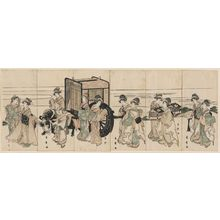 喜多川秀麿: Women Imitating an Imperial Procession - ボストン美術館