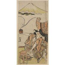 勝川春章: Actor Ichikawa Yaozô II as Soga no Gorô - ボストン美術館