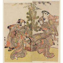 Katsukawa Shunsho: Actors Segawa Kikunojô III as Yasukata (R) and Iwai Hanshirô IV as Utô (L) - Museum of Fine Arts