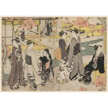 Hosoda Eishi: Hana no en, from the series Genji in Fashionable Modern Guise (Fûryû yatsushi Genji) - Museum of Fine Arts