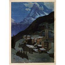 吉田博: The Matterhorn at Night - ボストン美術館