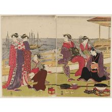Utagawa Toyokuni I: Party at Shinagawa - Museum of Fine Arts