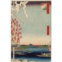 Utagawa Hiroshige: Asakusa River, Great Riverbank, Miyato River (Asakusagawa Ôkawabata Miyatogawa), from the series One Hundred Famous Views of Edo (Meisho Edo hyakkei) - Museum of Fine Arts