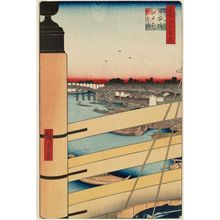 Utagawa Hiroshige: Nihonbashi Bridge and Edobashi Bridge (Nihonbashi Edobashi), from the series One Hundred Famous Views of Edo (Meisho Edo hyakkei) - Museum of Fine Arts