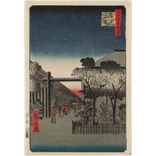 Utagawa Hiroshige: Dawn inside the Yoshiwara (Kakuchû shinonome), from the series One Hundred Famous Views of Edo (Meisho Edo hyakkei) - Museum of Fine Arts