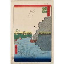 歌川広重: Scattered Pines, Tone River (Tonegawa Barabara-matsu), from the series One Hundred Famous Views of Edo (Meisho Edo hyakkei) - ボストン美術館