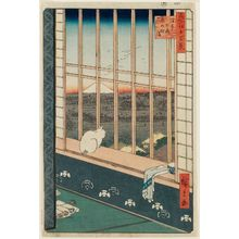 歌川広重: Asakusa Ricefields and Torinomachi Festival (Askusa tanbo Torinomachi môde), from the series One Hundred Famous Views of Edo (Meisho Edo hyakkei) - ボストン美術館