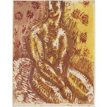 恩地孝四郎: Seated female nude - ボストン美術館