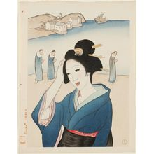 Takehisa Yumeji: Deshima from the series Twelve Views of Nagasaki (Nagasaki junikei no uchi) - Museum of Fine Arts