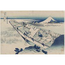 Katsushika Hokusai: Ushibori in Hitachi Province (Jôshû Ushibori), from the series Thirty-six Views of Mount Fuji (Fugaku sanjûrokkei) - Museum of Fine Arts
