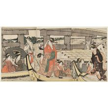 Kitagawa Utamaro: On Top of and beneath Ryôgoku Bridge - Museum of Fine Arts