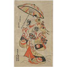 Torii Kiyomasu I: Actor Ichimura Tamagashiwa as Masaki no mae - Museum of Fine Arts