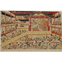 Okumura Masanobu: Scene from the Play Kanadehon Chûshingura at the Ichimura Theater - Museum of Fine Arts