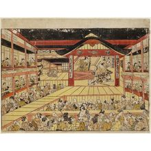 奥村政信: Scene from the Play Kanadehon Chûshingura at the Nakamura Theater - ボストン美術館