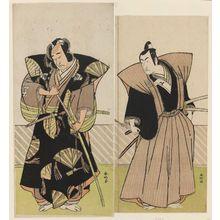 Katsukawa Shunko: Actors Onoe Matsusuke I and Ichikawa Monnosuke II - Museum of Fine Arts