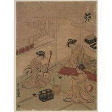 歌川豊春: Koto (Kin), from an untitled series of the Four Accomplishments (Kinkishoga) - ボストン美術館