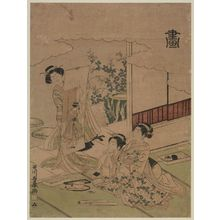 歌川豊春: Painting (Ga), from an untitled series of the Four Accomplishments (Kinkishoga) - ボストン美術館