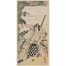勝川春英: Actor Ichikawa Monnosuke II as Soga no Goro - ボストン美術館