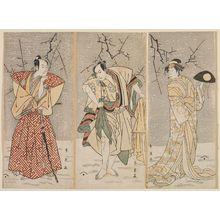 Katsukawa Shun'ei: Actors ? (R), Ichikawa Yaozo III (C), and Sawamura Sojuro (L) - Museum of Fine Arts
