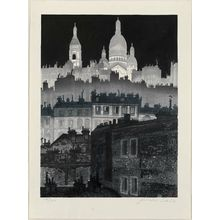 Sekino Jun'ichiro: Montmartre at Night - Museum of Fine Arts