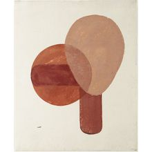 恩地孝四郎: Composition in Red and Brown - ボストン美術館