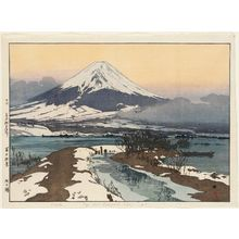 吉田博: Fuji from Kawaguchi Lake (Kawaguchi-ko), from the series Ten Views of Mount Fuji (Fuji jukkei) - ボストン美術館