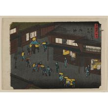 歌川広重: No. 35 - Goyu, from the series The Tôkaidô Road - The Fifty-three Stations (Tôkaidô - Gojûsan tsugi no uchi) - ボストン美術館