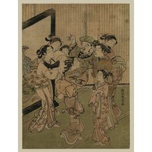 Suzuki Harunobu: Women Tossing Daikoku in the Air at New Year - Museum of Fine Arts