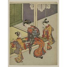 Suzuki Harunobu: Courtesan and Two Kamuro in the Yoshiwara - Museum of Fine Arts