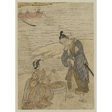 Suzuki Harunobu: Travellers Gathering Shells - Museum of Fine Arts