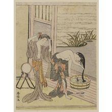 鈴木春信: Two Women Washing Their Hair - ボストン美術館