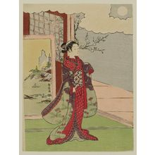 Suzuki Harunobu: Woman Gazing at the Moon - Museum of Fine Arts