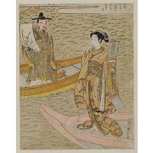 鈴木春信: Parody of the Nô Play Hakurakuten - ボストン美術館