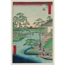 歌川広重: Mokuboji Temple, Uchigawa Inlet, Gozensaihata (Mokuboji Uchigawa Gozensaihata), from the series One Hundred Famous Views of Edo (Meisho Edo hyakkei) - ボストン美術館