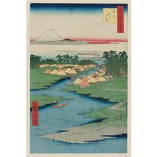 Utagawa Hiroshige: Horie and Nekozane (Horie Nekozane), from the series One Hundred Famous Views of Edo (Meisho Edo hyakkei) - Museum of Fine Arts