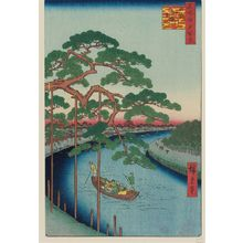 歌川広重: Five Pines, Onagi Canal (Onagigawa Gohonmatsu), from the series One Hundred Famous Views of Edo (Meisho Edo hyakkei) - ボストン美術館