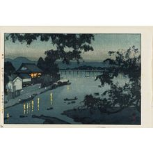 吉田博: Evening on the Chikugo River in Hida (Hida Chikugogawa no yûbe) - ボストン美術館