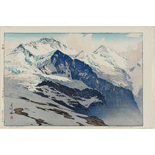 吉田博: Jungfrau (Yungufurau-yama) - ボストン美術館