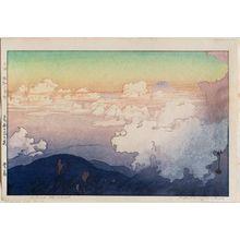 吉田博: Above the Cloud (Unhyô), from the series Southern Japan Alps (Nihon Minami Arupusu shû) - ボストン美術館