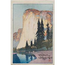 吉田博: El Capitan (Yosemito-dani Eru Kapitan). Series: The United States - ボストン美術館