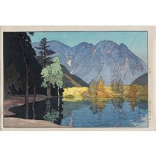 Yoshida Hiroshi: Hodakayama, from the series Twelve Scenes in the Japan Alps (Nihon Arupusu jûni dai no uchi) - Museum of Fine Arts