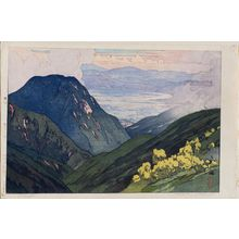 Yoshida Hiroshi: Ôtenjo (Ôtenjodake yori [View from Ôtenjodake]), from the series Twelve Scenes in the Japan Alps (Nihon Arupusu jûni dai no uchi) - Museum of Fine Arts