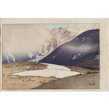 Yoshida Hiroshi: Tateyama Betsuzan, from the series Twelve Scenes in the Japan Alps (Nihon Arupusu jûni dai no uchi) - Museum of Fine Arts