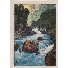 吉田博: Kurobe River (Kurobegawa) - ボストン美術館