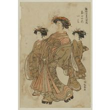 Isoda Koryusai: Konoharu of the Ietaya, from the series Models for Fashion: New Year Designs as Fresh as Young Leaves (Hinagata wakana no hatsu moyô) - Museum of Fine Arts