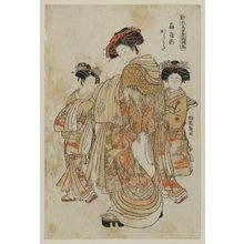 Isoda Koryusai: Karauta of the Ôgiya, from the series Models for Fashion: New Year Designs as Fresh as Young Leaves (Hinagata wakana no hatsu moyô) - Museum of Fine Arts