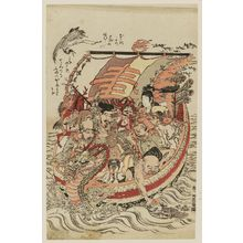 Isoda Koryusai: The Seven Gods of Good Fortune in the Treasure Boat - Museum of Fine Arts