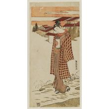 Isoda Koryusai: Young Man Carrying a Lantern - Museum of Fine Arts