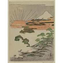 Isoda Koryusai: Mount Fuji and First Sunrise of the New Year - Museum of Fine Arts