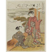 Isoda Koryusai: Narihira, from the series Six Poetic Immortals in Fashionable Modern Guise (Fûryû yatsushi Rokkasen) - Museum of Fine Arts